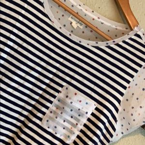 Maoson Jules Tops - Pop of dot and stripes color shirt